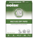 Boise CASOX9001 X-9 Multi-Use Copy Paper, 92 Bright, 20lb, 8-1/2 X 11, White, 5000 Sheets/carton