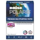 Boise CASPOL2411 Polaris Premium Multipurpose Paper, 8 1/2 X 11, 24lb, White, 5000/ct