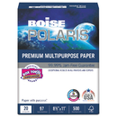 Boise CASPOL8511P Polaris Premium Multipurpose Paper, 3-Hole, 8 1/2 X 11, 20lb, White, 5000/ct