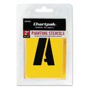 Chartpak CHA01555 Painting Stencil Set, A-Z Set/0-9, Manila, 35/set
