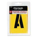 Chartpak CHA01560 Painting Stencil Set, A-Z Set/0-9, Manila, 35/set