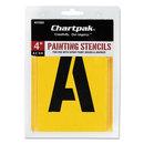 Chartpak CHA01565 Painting Stencil Set, A-Z Set/0-9, Manila, 35/set