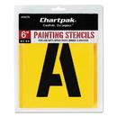 Chartpak CHA01575 Painting Stencil Set, A-Z Set/0-9, Manila, 35/set