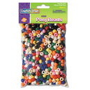THE CHENILLE KRAFT COMPANY CKC3552 Pony Beads, Plastic, 6mm X 9mm, Assorted Colors, 1000 Beads/pack