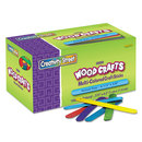 THE CHENILLE KRAFT COMPANY CKC377502 Colored Wood Craft Sticks, 4 1/2 X 3/8, Wood, Assorted, 1000/box