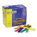 THE CHENILLE KRAFT COMPANY CKC377602 Colored Wood Craft Sticks, Jumbo, 6 X 3/4, Wood, Assorted, 500/box
