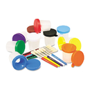 THE CHENILLE KRAFT COMPANY CKC5104 No-Spill Cups & Coordinating Brushes, Assorted Colors, 10/set