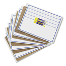 THE CHENILLE KRAFT COMPANY CKC988210 Student Dry-Erase Boards, 12 X 9, Blue/white, 10/set
