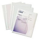 C-LINE PRODUCTS, INC CLI32457 Report Covers With Binding Bars, Economy Vinyl, Clear, 8 1/2 X 11, 50/bx
