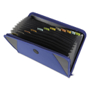C-LINE PRODUCTS, INC CLI48105 Expanding File With Zipper Closure, 13-Pocket, Tabbed Dividers, Blue