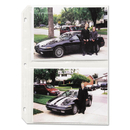C-LINE PRODUCTS, INC CLI52572 Clear Photo Pages For Four 5 X 7 Photos, 3-Hole Punched, 11-1/4 X 8-1/8