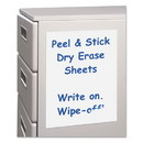 C-Line 57911 Peel and Stick Dry Erase Sheets, 8 1/2 x 11, White, 25 Sheets/Box