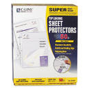 C-LINE PRODUCTS, INC CLI61008 Super Heavyweight Poly Sheet Protector, Non-Glare, 2