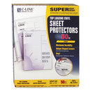 C-LINE PRODUCTS, INC CLI61013 Super Heavyweight Vinyl Sheet Protector, Clear, 2