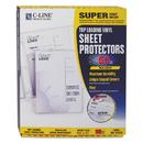 C-LINE PRODUCTS, INC CLI61018 Super Heavyweight Vinyl Sheet Protector, Nonglare, 2