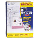 C-Line CLI62023 Heavyweight Polypropylene Sheet Protector, Clear, 2