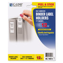 C-Line CLI70013 Self-Adhesive Ring Binder Label Holders, Top Load, 3/4 X 2-1/2, Clear, 12/pack