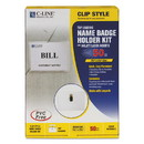 C-Line 95523 Name Badge Kits, Top Load, 3 1/2 x 2 1/4, Clear, 50/Box