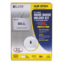 C-Line 95596 Name Badge Kits, Top Load, 4 x 3, Clear, Clip Style, 96/Box