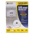 C-Line 95723 Name Badge Kits, Top Load, 3 1/2 x 2 1/4, Clear, Combo Clip/Pin, 50/Box