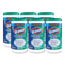 Clorox CLO15949CT Disinfecting Wipes, 7 X 8, Fresh Scent, 75/canister, 6/carton