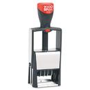 Cosco COS011200 Self-Inking Heavy-Duty Line Dater W/microban, 1 1/4 X 5/8, Black