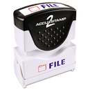 Accustamp COS035534 Pre-Inked Shutter Stamp With Microban, Red/blue, File, 1 5/8 X 1/2