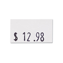 CONSOLIDATED STAMP COS090944 One-Line Pricemarker Labels, 7/16 X 13/16, White, 1200/roll, 3 Rolls/box