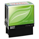 2000 PLUS COS098369 2000 Plus Green Line Message Stamp, Faxed, 1 1/2 X 9/16, Red