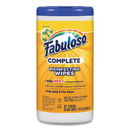 Fabuloso US06490A Multi Purpose Wipes, Lemon, 7 x 7, 90/Canister, 4 Canisters/Carton