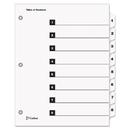 CARDINAL BRANDS INC. CRD60833 Quickstep Onestep Bulk Index System, Title: 1-8, Letter, White, 24 Sets/box