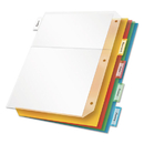 CARDINAL BRANDS INC. CRD84009 Poly Ring Binder Pockets, 11 X 8 1/2, Letter, Assorted Colors, 5/pack