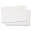 Cardinal CRD84271 Write 'n Erase Tabloid Index Dividers, 8-Tab, White