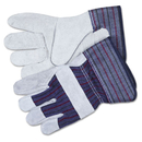 Memphis CRW12010XL Split Leather Palm Gloves, Gray, Pair