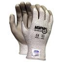 MCR Safety 9672M Memphis Dyneema Polyurethane Gloves, Medium, White/Gray, Pair