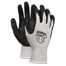 Memphis CRW9673M Economy Foam Nitrile Gloves, Medium, Gray/black, 12 Pairs