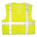 MCR Safety CRWCL2LCL Luminator Safety Vest, Lime Green w/Stripe, Large