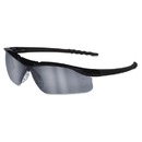Crews CRWDL119AF Dallas Wraparound Safety Glasses, Black Frame, Gray Indoor/outdoor Lens