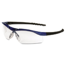 Crews CRWDL310AF Dallas Wraparound Safety Glasses, Metallic Blue Frame, Clear Antifog Lens