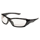 Crews CRWFF120 Forceflex Safety Glasses, Black Frame, Clear Lens