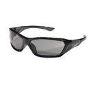 Crews CRWFF122 Forceflex Safety Glasses, Black Frame, Gray Lens