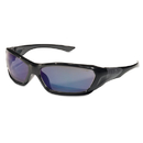 Crews CRWFF128B Forceflex Safety Glasses, Black Frame, Blue Lens