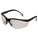 Crews CRWKD110 Klondike Safety Glasses, Matte Black Frame, Clear Lens