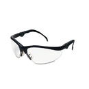 Crews CRWKD310 Klondike Plus Safety Glasses, Black Frame, Clear Lens
