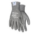 Memphis CRWN9677S Ninja Force Polyurethane Coated Gloves, Small, Gray, Pair