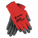 MCR Safety N9680L Ninja Flex Latex Coated Palm Gloves N9680L, Large, Red/Gray, 1 Dozen