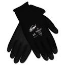 Memphis CRWN9699L Ninja Hpt Pvc Coated Nylon Gloves, Large, Black, Pair