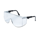Crews CRWTC110XL Tacoma Wraparound Safety Glasses, Black Frames, Clear Lenses