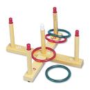 Champion Sports CSIQS1 Ring Toss Set, Plastic/wood, Assorted Colors, 4 Rings/5 Pegs/set