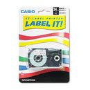 CASIO ENTERPRISES CSOXR24WE Tape Cassette For Kl8000/kl8100/kl8200 Label Makers, 24mm X 26ft, Black On White